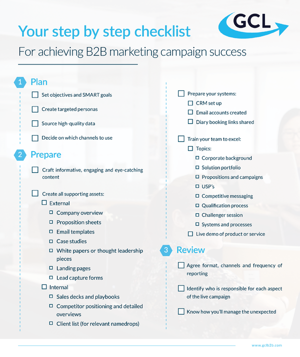 Infographic - How to achieve B2B marketing campaign succcess
